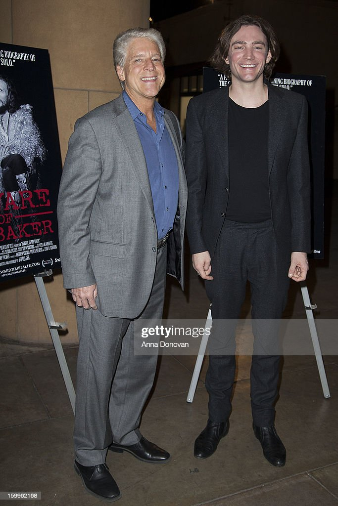 Rick Allen and director Jay Bulger attend a screening of SnagFilms' 'Beware of Mr Baker' at the Egyptian Theatre on January 23 2013 in Hollywood...