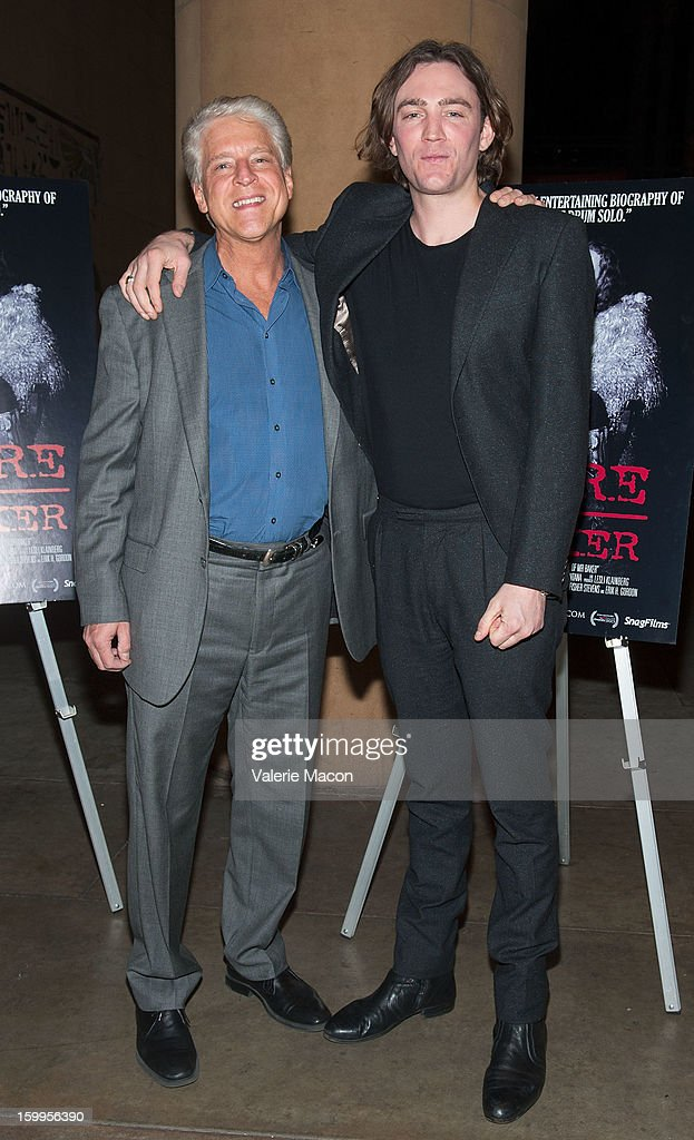 Rick Allen and Jay Bulger arrives at the screening of SnagFilms' 'Beware of Mr Baker' at the Egyptian Theatre on January 23 2013 in Hollywood...