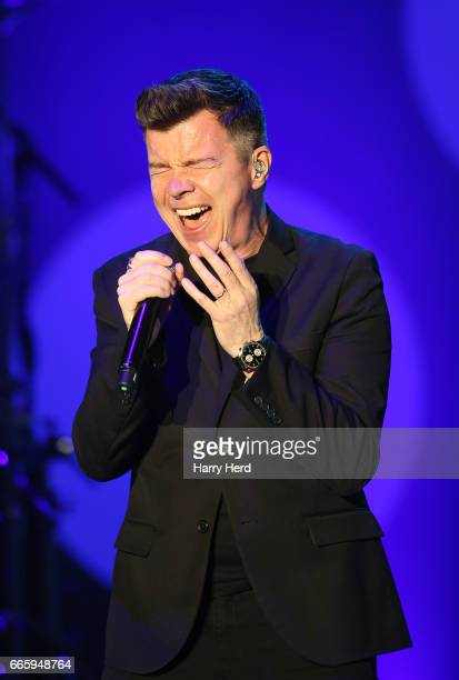 Rick Astley performs at BIC on April 7 2017 in Bournemouth England