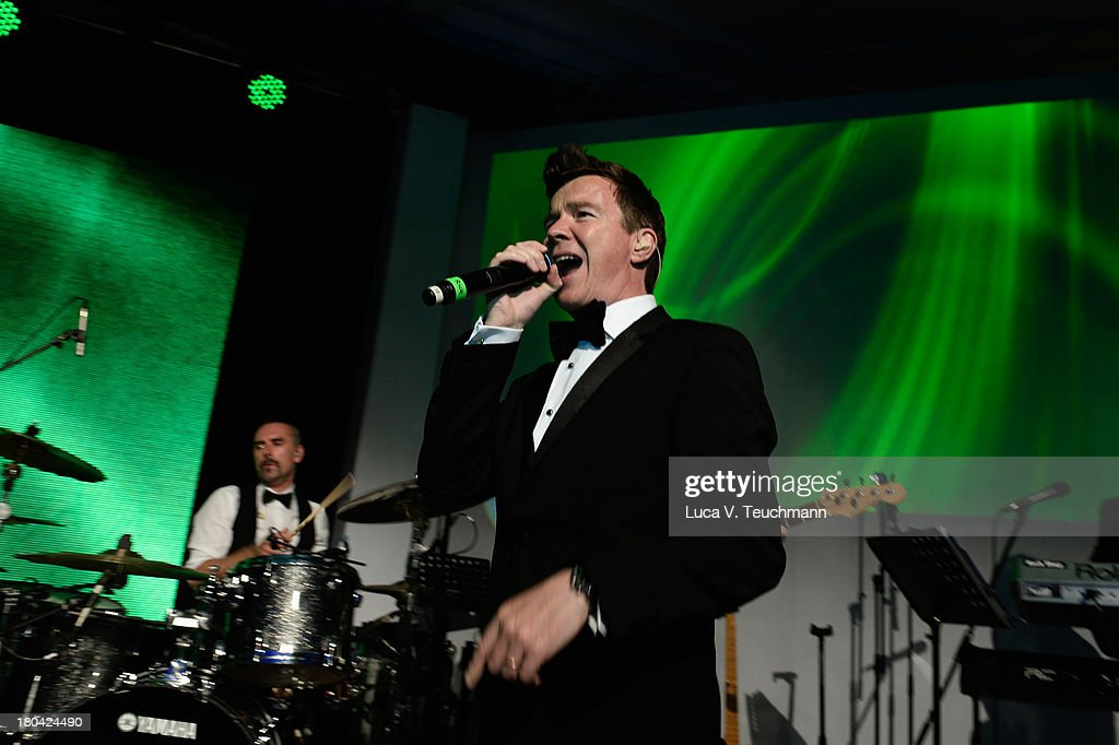 <a gi-track='captionPersonalityLinkClicked' href=/galleries/search?phrase=Rick+Astley&family=editorial&specificpeople=1182850 ng-click='$event.stopPropagation()'>Rick Astley</a> performs at the Dreamball 2013 charity gala at Ritz Carlton on September 12, 2013 in Berlin, Germany.
