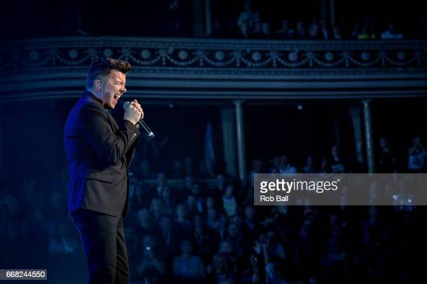 Rick Astley performs at The Royal Albert Hall on April 13 2017 in London United Kingdom