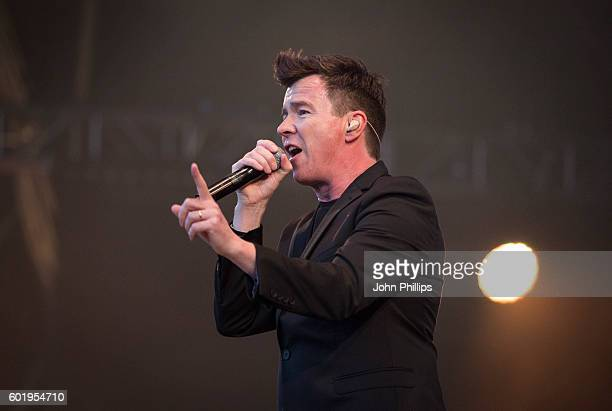 Rick Astley performs during the BBC Proms In The Park at Hyde Park on September 10 2016 in London England