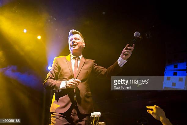 Rick Astley performs in concert at Sala Apolo on September 25 2015 in Barcelona Spain