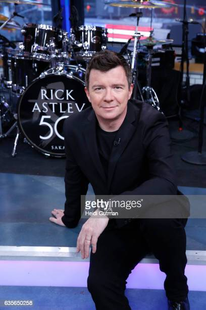 AMERICA Rick Astley performs live on 'Good Morning America' Wednesday February 15 2017 on the ABC Television Network RICK