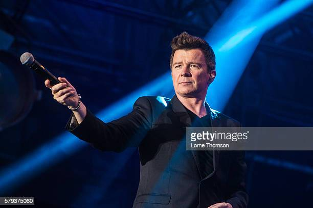 Rick Astley performs on day two of Rewind Scotland at Scone Palace on July 23 2016 in Perth Scotland