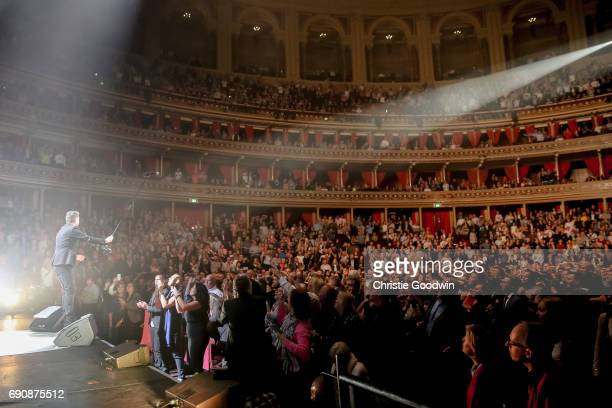 Rick Astley performs on stage at The Royal Albert Hall on April 13 2017 in London England