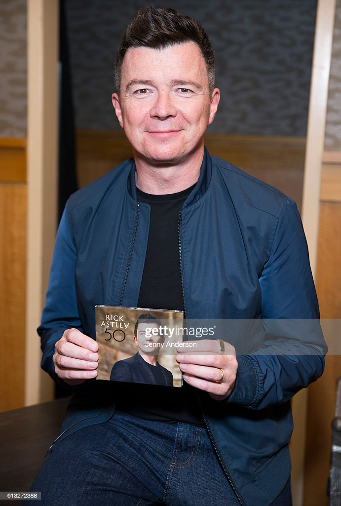 "Rick Astley Signs Copies Of His New Album ""50"""