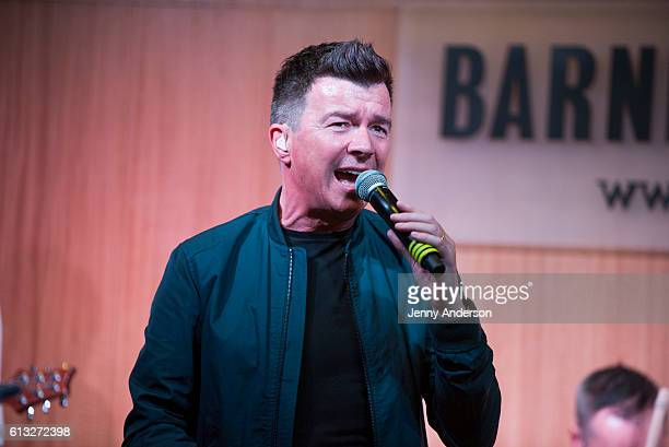 Rick Astley signs and sings from his new album '50' at Barnes Noble 86th Lexington on October 7 2016 in New York City