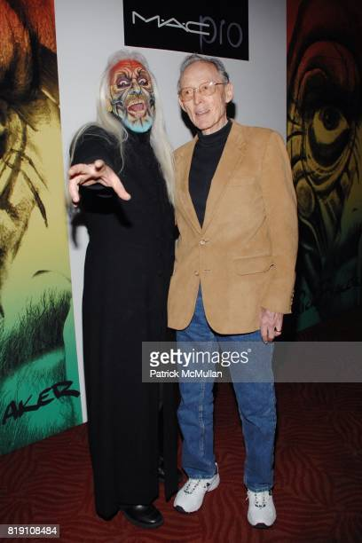 Rick Baker and Dick Smith attend MAC Pro Proudly Presents A Master Class With AcademyAward Winning Makeup Artist Rick Baker at El Rey Theatre on...