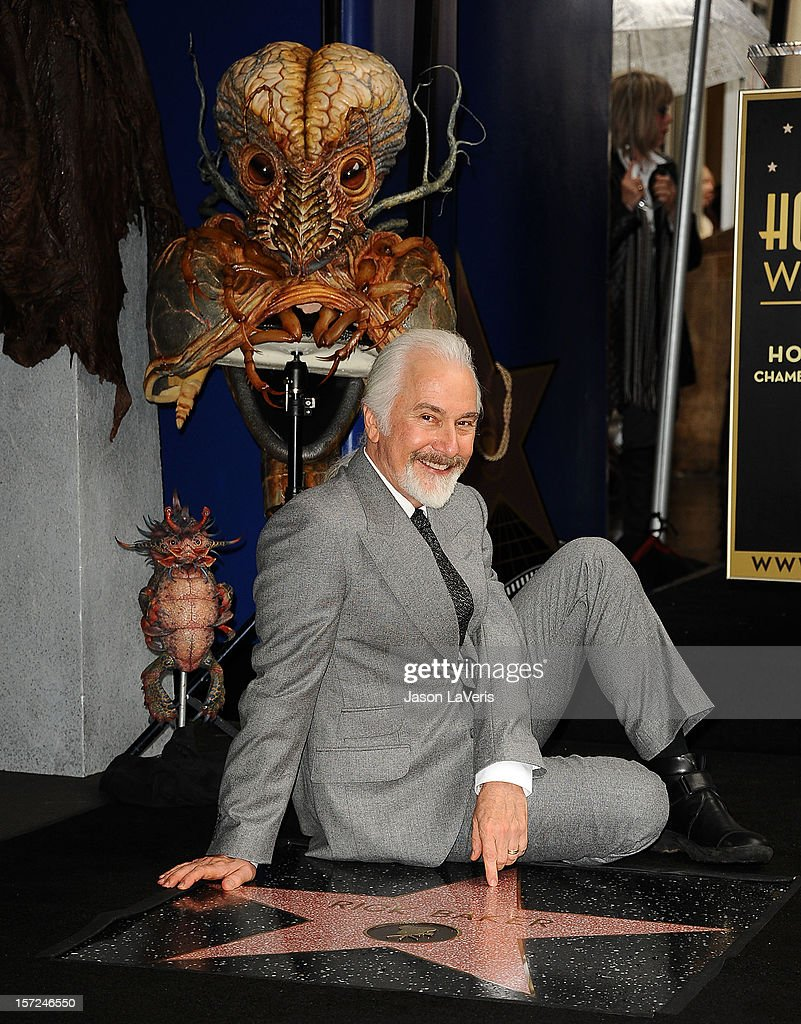 <a gi-track='captionPersonalityLinkClicked' href=/galleries/search?phrase=Rick+Baker&family=editorial&specificpeople=540260 ng-click='$event.stopPropagation()'>Rick Baker</a> is honored with a star on the Hollywood Walk of Fame on November 30, 2012 in Hollywood, California.