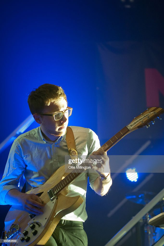 Rick Boardman of Delphic performs on The NME stage at The Corn Exchange during day two of The Great Escape Festival on May 14, 2010 in Brighton, England.