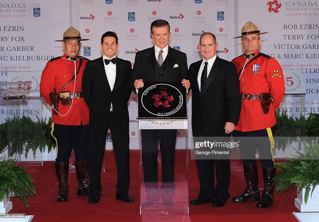 Rick Campanelli, Alan Thicke and Dan McGrath attend Canada's Walk Of Fame Ceremony at The Elgin on September 21, 2013 in Toronto, Canada.