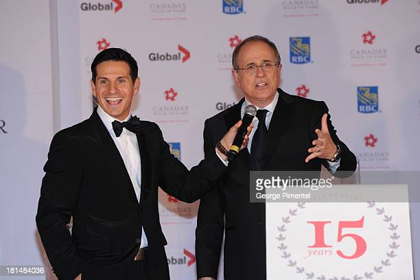Rick Campanelli and Bob Ezrin attends Canada's Walk Of Fame Ceremony at The Elgin on September 21 2013 in Toronto Canada