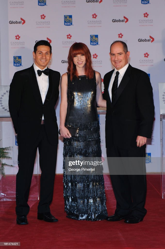 Rick Campanelli, Carly Rae Jepsen and Dan McGrath attend Canada's Walk Of Fame Ceremony at The Elgin on September 21, 2013 in Toronto, Canada.