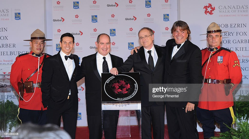 Rick Campanelli, Dan McGrath, Bob Ezrin and Randy Lennox attend Canada's Walk Of Fame Ceremony at The Elgin on September 21, 2013 in Toronto, Canada.