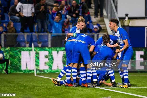 Rick Dekker of PEC Zwolle Bram van Polen of PEC Zwolle Youness Mokhtar of PEC Zwolle Nicolas Freire of PEC Zwolle Younes Namli of PEC Zwolle during...