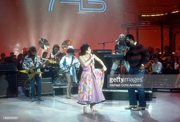 Rick Derringer Carmine Appice Mona Flambe aka Cyndi Lauper Vicki Sue Robinson Dave Wolff and Junkyard Dog perform the song 'Grab Them Cakes' from...