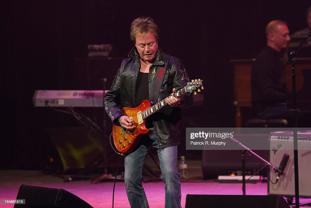 Rick Derringer performs during the Chuck Berry Tribute Concert at the State Theatre on October 27, 2012 in Cleveland, Ohio.