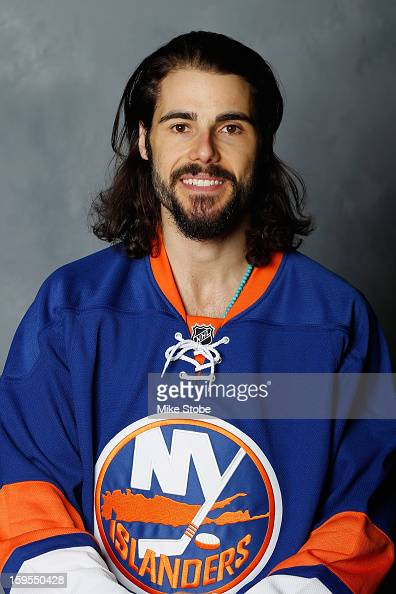 Rick DiPietro of the New York Islanders poses for his official headshot for the 20122013 season on January 13 2013 at the Nassau Coliseum in...