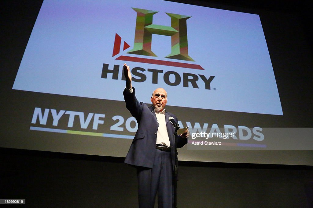 Rick Dobbis accepts History Unscripted Development Pipeline award for 'Fire Bombers' during the awards ceremony at the 9th Annual New York Television festival at SVA Theater on October 26, 2013 in New York City.