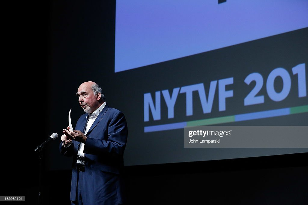 Rick Dobbis accepts History Unscripted Development Pipeline award fro 'Fire Bombers' at the 9th Annual New York Television Festival - Awards Ceremony at SVA Theater on October 26, 2013 in New York City.