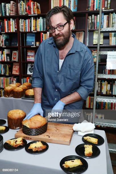 Rick Easton serves his homemade Panettone bread during Housing Works taste of home 2017 on June 14 2017 in New York City