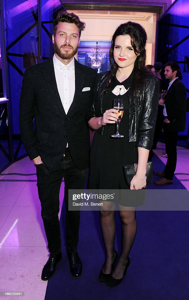 Rick Edwards (L) and Emer Kenny attend the John Frieda party celebrating 25 years of transforming women's hair at Claridges Hotel on October 29, 2013 in London, England.