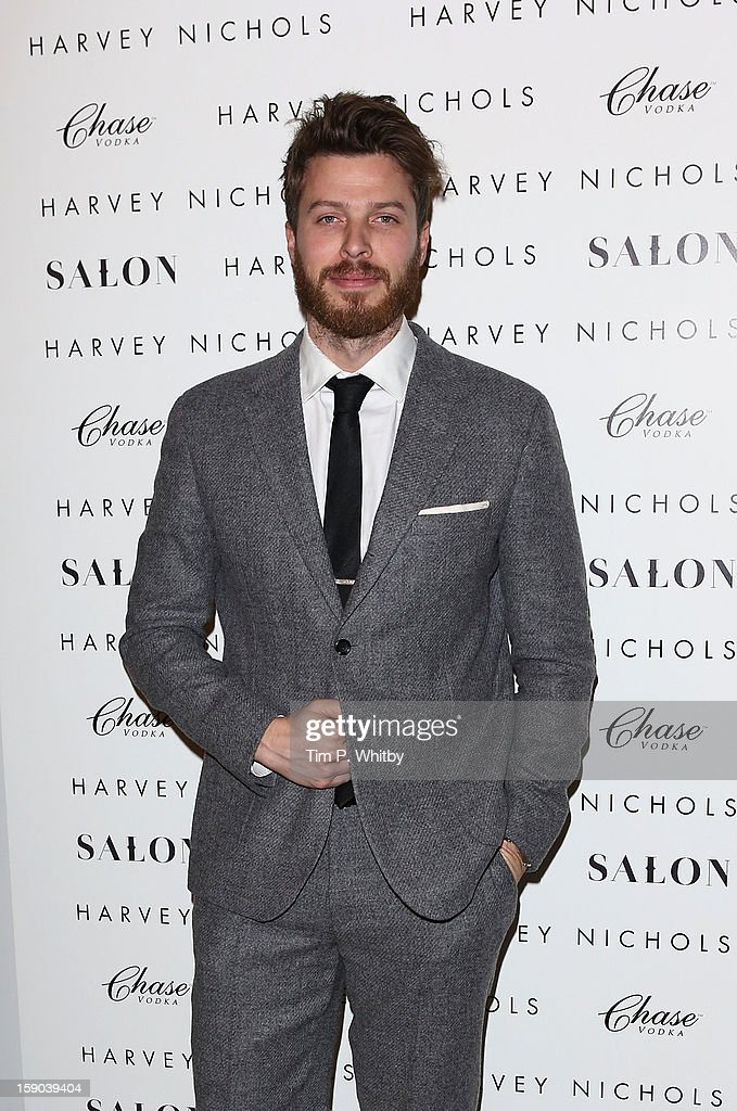 Rick Edwards attends the launch of 1205 Paula Gerbase Hosted By Harvey Nichols ahead of the London Collections: MEN AW13 at Harvey Nichols on January 6, 2013 in London, England.