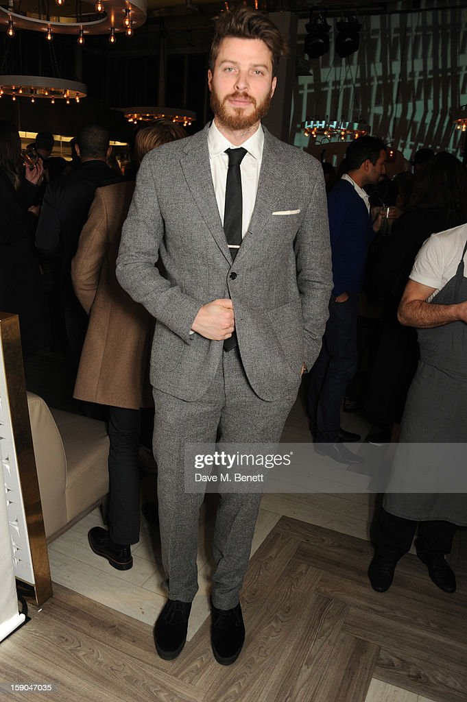<a gi-track='captionPersonalityLinkClicked' href=/galleries/search?phrase=Rick+Edwards&family=editorial&specificpeople=2179538 ng-click='$event.stopPropagation()'>Rick Edwards</a> attends the launch of 1205 Paula Gerbase hosted by Harvey Nichols on January 6, 2013 in London Engand.
