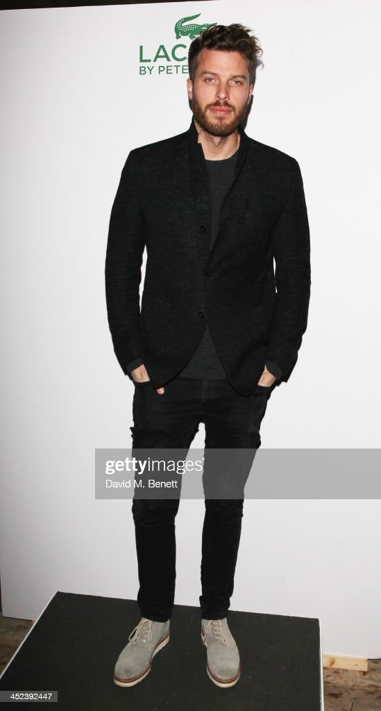 <a gi-track='captionPersonalityLinkClicked' href=/galleries/search?phrase=Rick+Edwards&family=editorial&specificpeople=2179538 ng-click='$event.stopPropagation()'>Rick Edwards</a> attends the Peter Saville for Lacoste launch at Shoreditch House on November 28, 2013 in London, England.