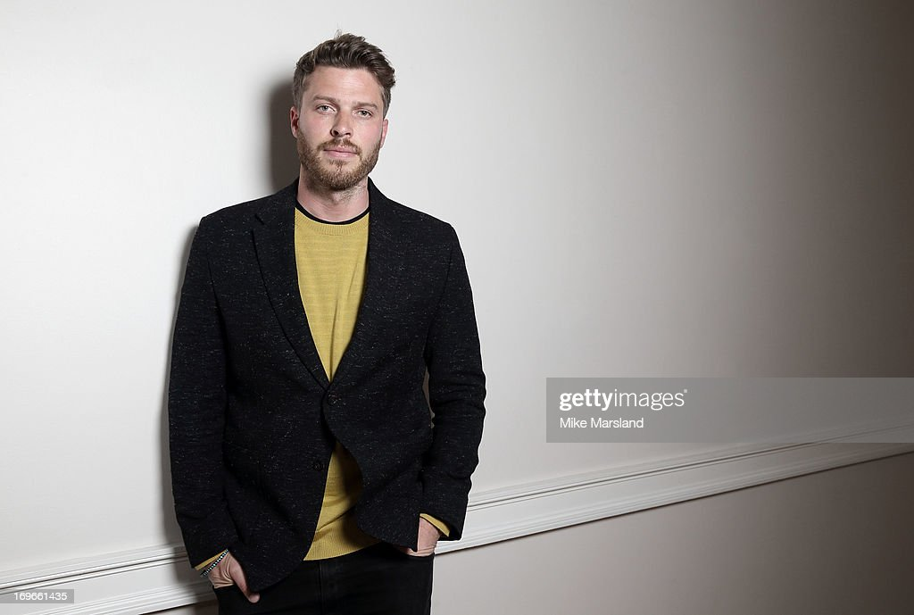 Rick Edwards poses for Stella/Esquire Portrait Studio at Somerset House on May 29, 2013 in London, England.