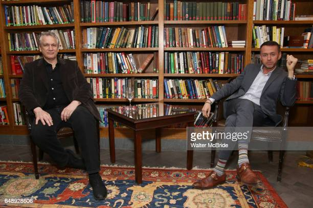 Rick Elice and Andrew Lippa attend the Dramatists Guild Fund Salon With Rick Elice at the Cornell Club on March 6 2017 in New York City