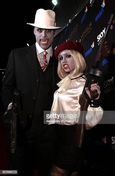 Rick Fox and actress Eliza Dushku arrive at Heidi Klum�s 10th Annual Halloween Party Presented by MSN and SKYY Vodka held at the Voyeur on October 31...