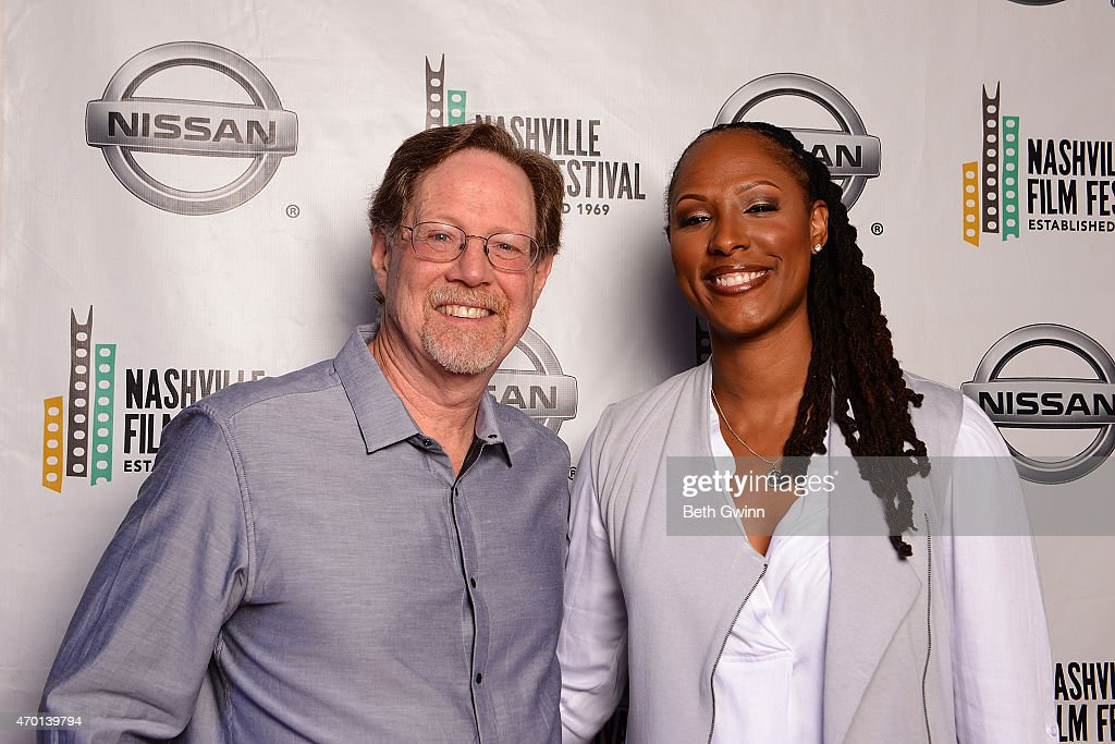 Rick Goldsmith and Chamique Holdsclaw of the film 'Mind Game' Nashville Film Festival at Green Hills Cinema on April 17 2015 in Nashville Tennessee