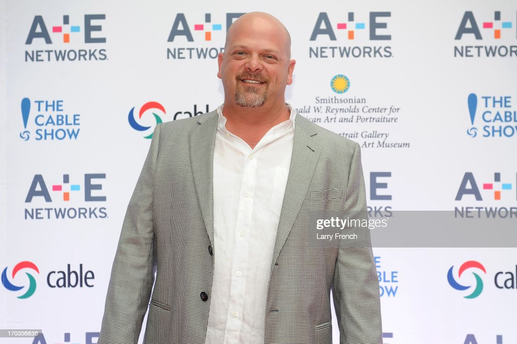 <a gi-track='captionPersonalityLinkClicked' href=/galleries/search?phrase=Rick+Harrison&family=editorial&specificpeople=6584951 ng-click='$event.stopPropagation()'>Rick Harrison</a> attends the A+E hosted NCTA Chairman's Reception at Smithsonian American Art Museum & National Portrait Gallery on June 11, 2013 in Washington, DC.
