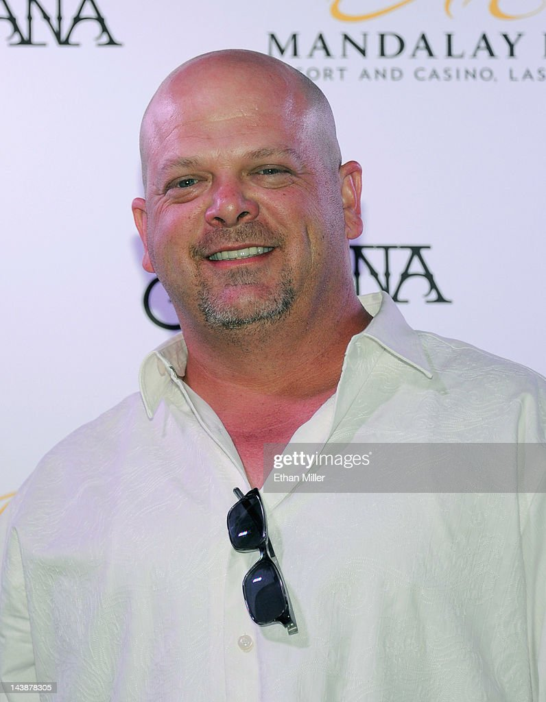 Rick Harrison from History's 'Pawn Stars' television series appears at the House of Blues inside the Mandalay Bay Resort & Casino following a mud ceremony for recording artist Carlos Santana May 4, 2012 in Las Vegas, Nevada. The ceremony involved combining dirt from the town of Clarksdale in the Mississippi Delta with dirt from Bethel, New York from the site of the Woodstock Festival and mud from Santana's hometown of Autlan de Navarro, Jalisco in Mexico to symbolize his two-year residency at the music venue.