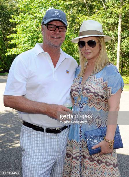 Rick Hilton and Cathy Hilton attend the July 4th weekend celebration of the 100th Anniversary of the RollsRoyce Soe hosted by Stadium Red on July 2...