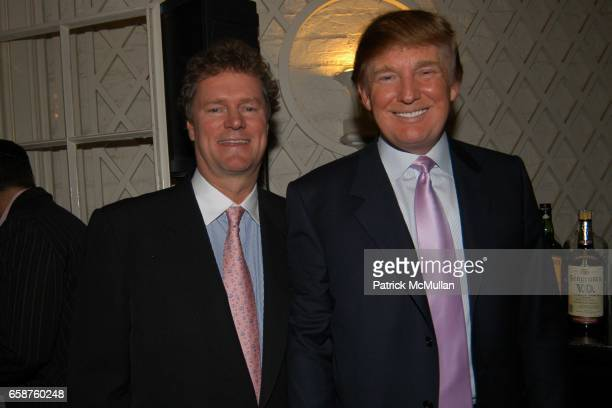 Rick Hilton and Donald Trump attend Kathy and Rick Hilton's party for Donald Trump and 'The Apprentice' at the Hiltons' Home on February 28 2004 in...