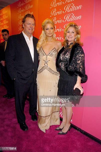 Rick Hilton Paris Hilton and Kathy Hilton during Paris Hilton Fragrance Launch February 9 2005 at Duvet in New York City New York United States