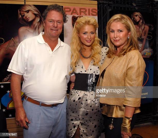 Rick Hilton Paris Hilton and Kathy Hilton during Paris Hilton Signs Her Debut Album 'Paris' at FYE at FYE in New York New York United States