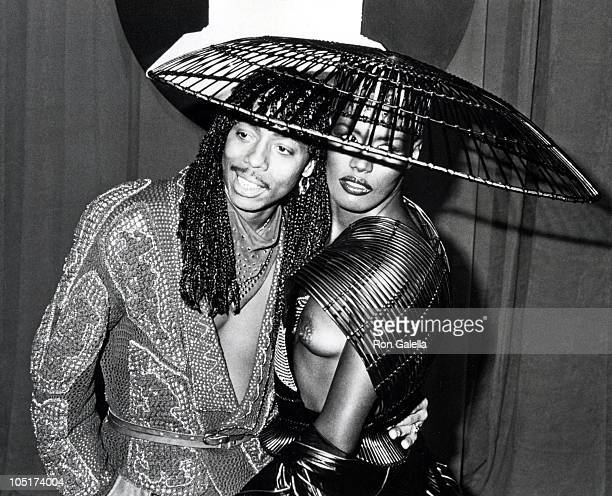 Rick James and Grace Jones during The 26th Annual GRAMMY Awards in Los Angeles California United States