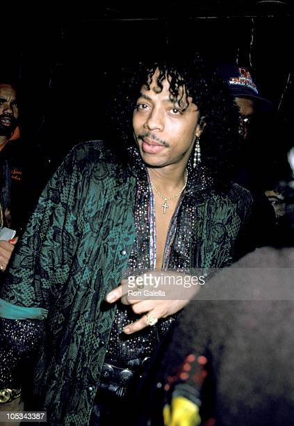 Rick James during 1986 MTV Video Music Awards at Palladium in New York City New York United States
