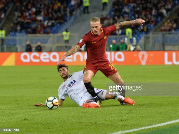 Rick Karsdorp during the Italian Serie A football match between AS Roma and FC Crotone at the Olympic Stadium in Rome on october 25 2017