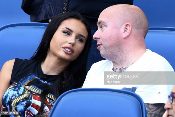 Rick Karsdorp girlfriend Astrid Bella on the tribune during the Italian Serie A football match AS Roma vs Udinese on September 23 2017 at the Olympic...