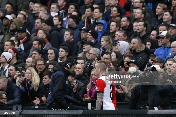 Rick Karsdorp of Feyenoordduring the Dutch Eredivisie match between Feyenoord Rotterdam and PSV Eindhoven at the Kuip on February 26 2017 in...