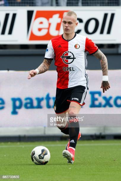 Rick Karsdorp of Feyenoordduring the Dutch Eredivisie match between sbv Excelsior Rotterdam and Feyenoord Rotterdam at Van Donge De Roo stadium on...