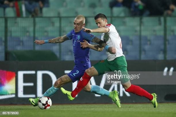 Rick Karsdorp of Holland Aleksandar Tonev of Bulgariaduring the FIFA World Cup 2018 qualifying match between Bulgaria and Netherlands on March 25...