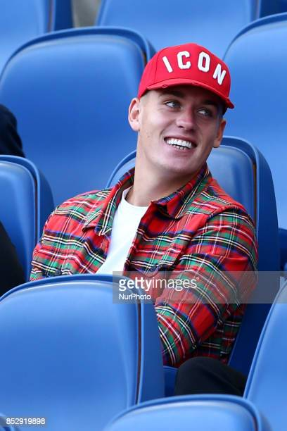 Rick Karsdorp of Roma on the tribune during the Italian Serie A football match AS Roma vs Udinese on September 23 2017 at the Olympic stadium in Rome