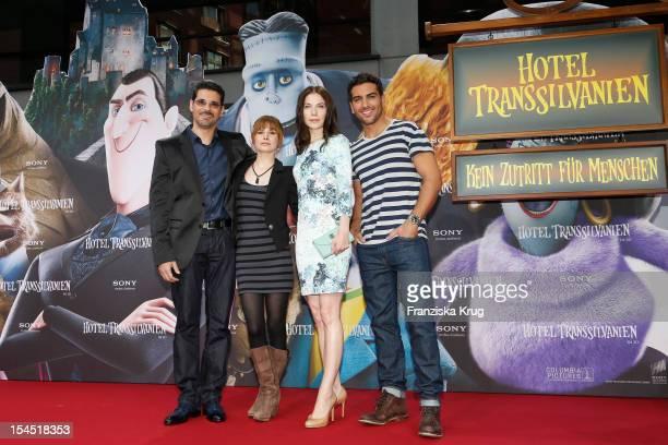 Rick Kavanian Josefine Preuss Nora von Waldstaetten and Elyas M'Barek attend the Germany premiere of 'Hotel Transylvania' at Cinemaxx at Potsdamer...