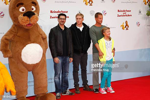 Rick Kavanian Matthias Schweighoefer Til Schweiger and Emma Schweiger attend the 'Keinohrhase und Zweiohrkueken' Premiere at CineStar on September 22...